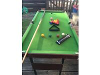 Snooker table small size