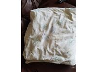 Cot size duvet and cover £5