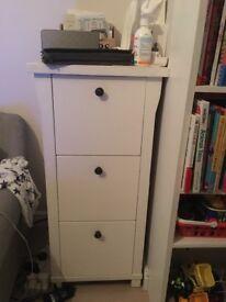 Filing Cabinet - Wood - White - 3 drawer - £100