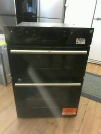 HOTPOINT BLACK DOUBLE OVEN BRAND NEW BUILT IN OVEN