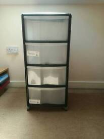 Storage Unit with 4 Drawers - LIKE NEW