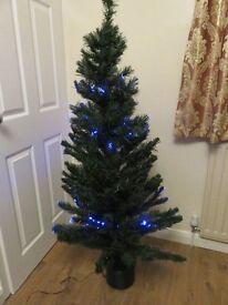 5FT Blue Led Light Fibre Optic Christmas Tree