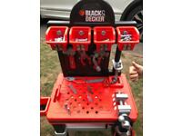 Toy Black and Decker tool station