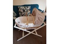 Mamas and papas Moses basket with stand excellent condtion