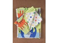 Children's cot bed animal or car duvet case and pillow sets £5.00 each