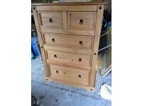 Chest of Drawers, mexican pine