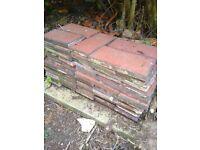 "Circa 1930s 65 x 3""x 8"" Terracota Clay Flooring Tiles"