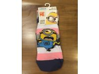 Official Despicable Me Minions Ladies Ankle Socks Female Adult Minion UK 4-8