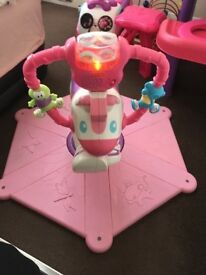 Fisher Price Pink Bounce Zebra