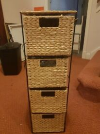 wicker basket drawers