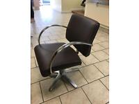 6 Leather Swivel Salon Hairdressers Chairs