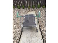 House Hold items for sale[ Pram,Folding Dinning Table with 4chair, Heavy weight trolly etc....