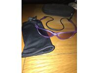 Very!! Rare!! Girls Oakley 'Half Pint' Lilac sun glasses with rubber retainer