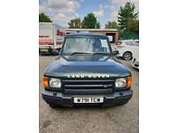 LAND ROVER DISCOVERY TD5 S 2000 (W) 5 SPEED MANUAL IN GREEN 150K 12 MONTHS MOT