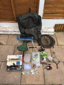 ROD TACKLE AND BAG