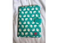 Turquoise elephant patterned iPad mini case