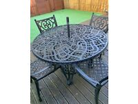For sale Wrought Iron Table & Chairs