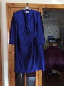 ladies suit size 18 - cobalt blue - petite