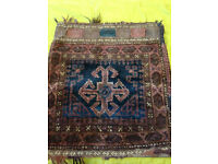 PRICE LOWERED Antique/Vintage Wool Pillow Cover/Middle Eastern/Turkish/Ethnic/Textile