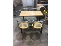 Restaurant style chair and table