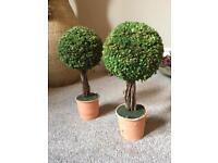 Miniature faux trees