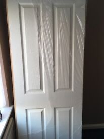 Brand new 5x 4 Panel white internal doors H 1981mm W762mm D35mm