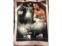 Larry Holmes montage with authenticity certificate £25