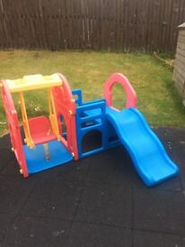 Outdoor Chute and Swing Set - Ideal for toddlers
