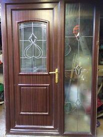 Brown PVC front door 2nd hand