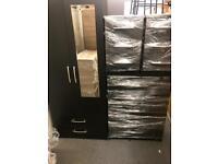 CLASSIC BEDROOM FURNITURE SET -BLACK START FROM £45