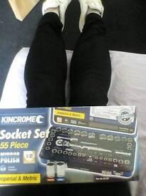 55 peice socket set kincrome