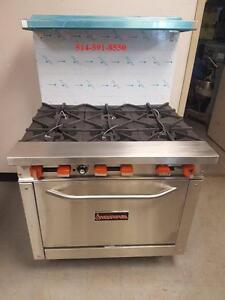 SIERRA Poele,  Cuisiniere au Gaz COMMERCIAL  Gas Stove Range 6 Burner