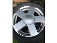 Selection of Ford Fiesta alloys and steel rims