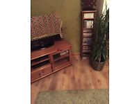 pine TV cabinet and cd storage unit