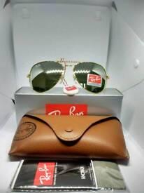 Ray-Ban aviator sunglasses mirror