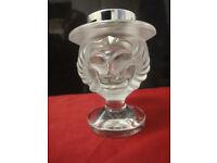 Lalique crystal - Lions Head Tete Smoking Cigarette Lighter