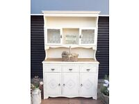 OAK-DRESSER-KITCHEN UNIT-WELSH DRESSER-SIDEBOARD-SHABBY CHIC-FARROW & BALL