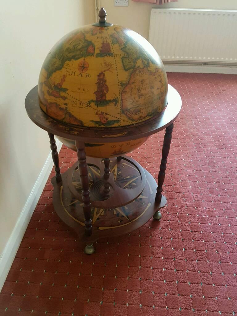 Antique globe drinks cabinet - Rare. Antique Globe Drinks Cabinet In Leicester, Leicestershire