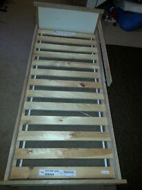 kids bed frame with slatted bed base (IKEA SNIGLAR)