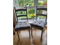 2 x grey chairs