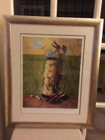 James Orr signed A/P golf print 'Five Bob a Round'
