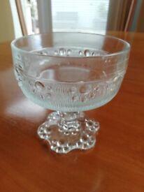 Retro Glass Dishes x 6