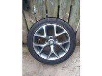 4 x 18 inch Vauxhall VXR alloys - new tyres