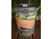 Ronseal Ultimate Protection Decking Stain 5 litres tin Teak