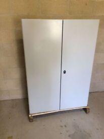 Large steel weatherproof metal storage box (Schneider electric)
