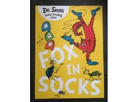 NEW UNUSED, Dr Seuss, Fox in Socks (2016 version), A4 paperback. RRP £7