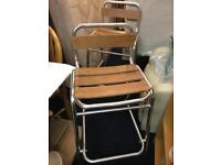 Lovely set of 4 outdoor stools like new.