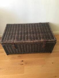 Large wicker Ottoman storage chest.