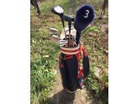 Golf set bag and 9 sticks