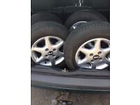 """For Sale 13"""" Wheels Alloys Tyres. Suitable for VW, Golf, Polo, Lupo, REDUCED! £120 for a quick sale"""